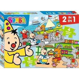 Puzzle 2 en 1 Bumba - 4 et 6 pièces