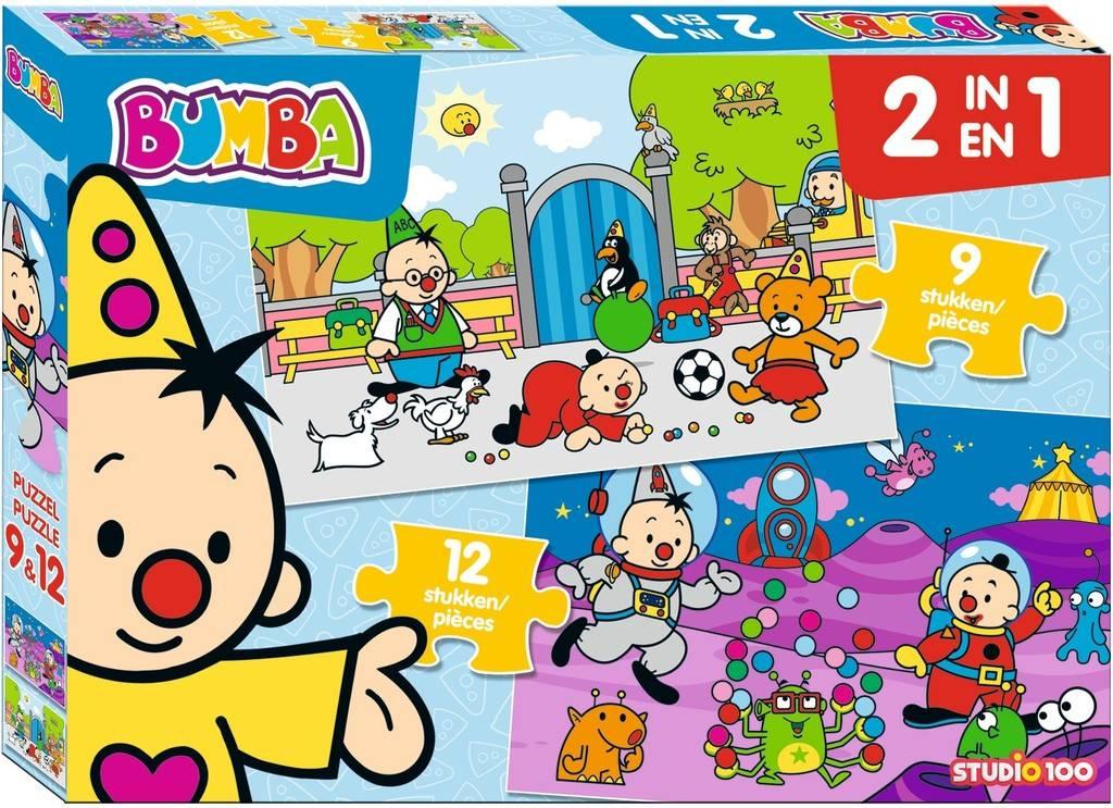 Bumba Puzzel 2 in 1 - 9 en 12 stukjes