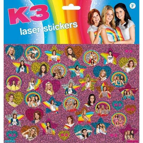 K3 Stickervel holo - 45+ stickers
