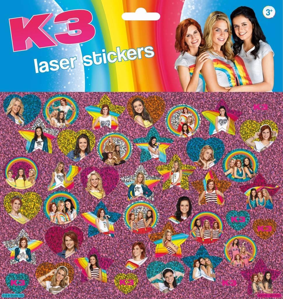 Stickervel holo K3 ToTum: 45+ stickers