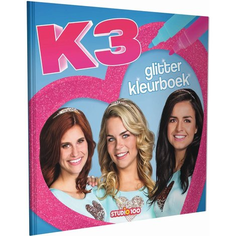Kleurboek K3: glitter