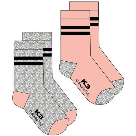 K3 Sokken Glam - 2 stuks