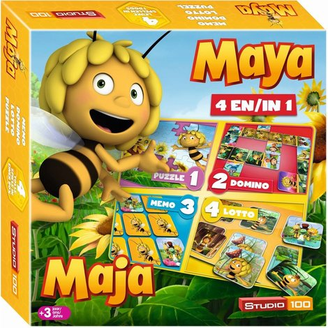Spel 4 in 1 Maya o.a. domino en lotto