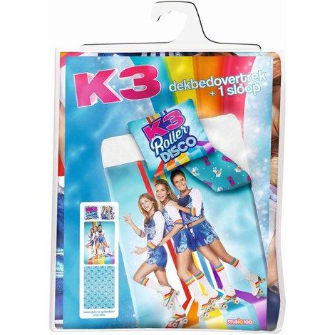 Dekbedovertrek K3 rollerdisco 140x200/65x65 cm