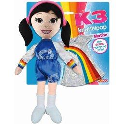 Knuffelpop K3 met extra jurkje Marthe 40 cm