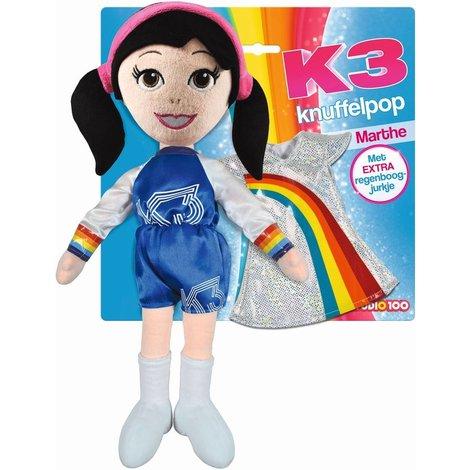Knuffelpop K3 met extra jurkje: Marthe 40 cm