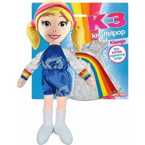 Knuffelpop K3 met extra jurkje Klaasje 40 cm