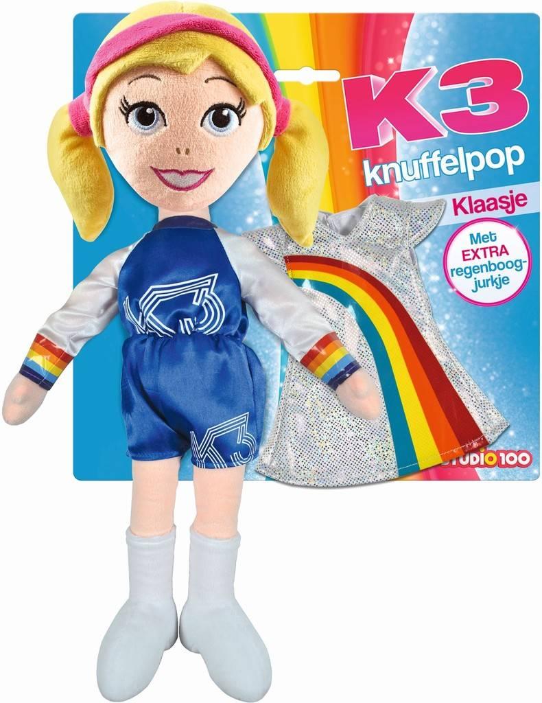Knuffelpop K3 met extra jurkje: Klaasje 40 cm