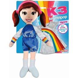 Knuffelpop K3 met extra jurkje Hanne 40 cm