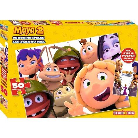 Maya Puzzle avec le poster - 50 pieces