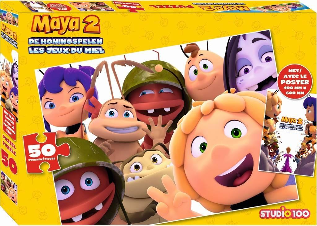 Maya de Bij Puzzel met poster - 50 stukjes