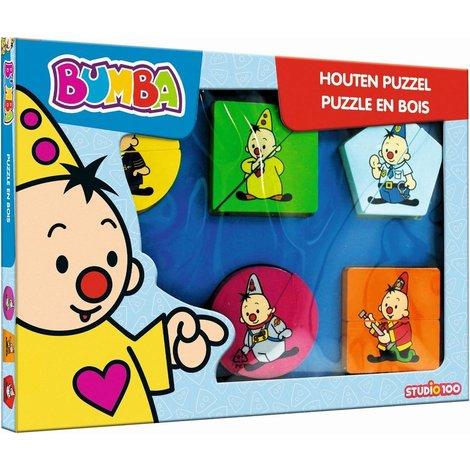 Puzzel Bumba hout: 12 stukjes