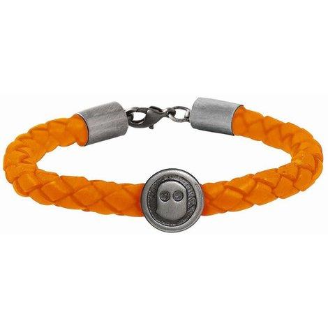 Ghost Rockers Armband gevlochten - Oranje