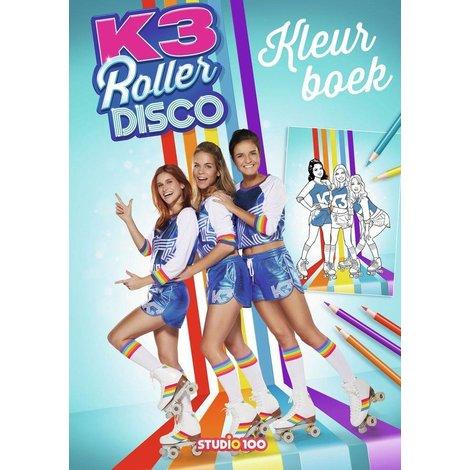 Kleurboek K3: rollerdisco