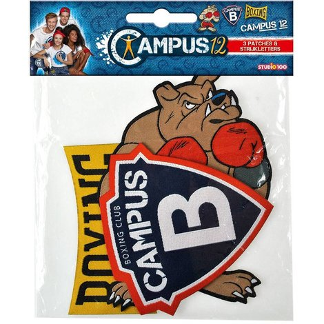 Strijkpatches Campus 12 4 stuks