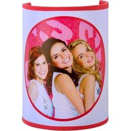 Wandlamp K3 roze 20x14x10 cm