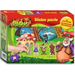 Puzzle et stickers Plop - 35 pièces
