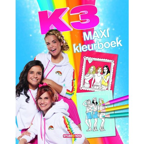 Kleurboek K3 maxi kleurboek