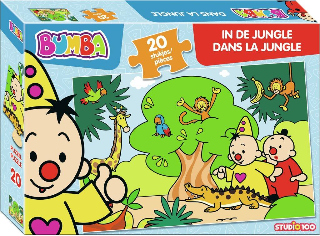 Bumba Puzzel in de jungle - 20 stukjes