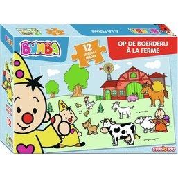 Bumba : puzzle - la ferme - 12 pcs