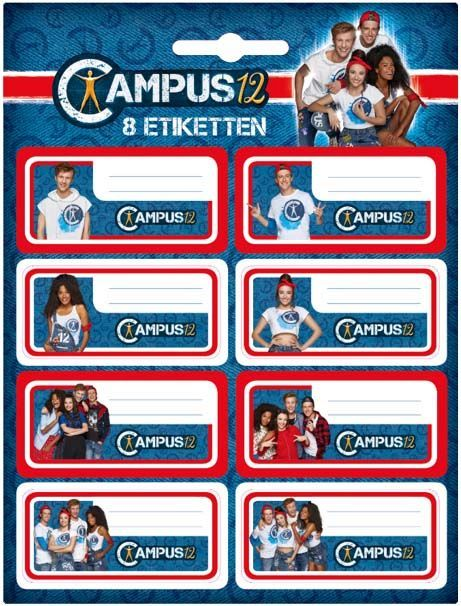 Etiketten Campus 12: 8 stuks