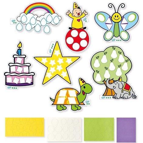 Vormen en kleuren leren Bumba ToTum: 52 stickers