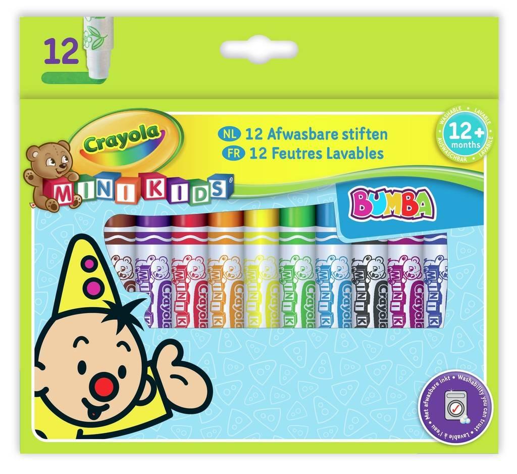 Viltstiften bolle punt Bumba Crayola: 12 stuks