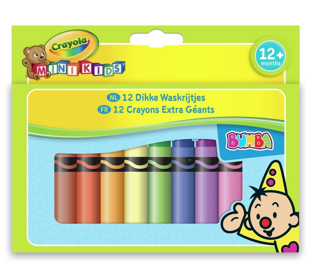 Dikke wasco`s Bumba Crayola: 12 stuks