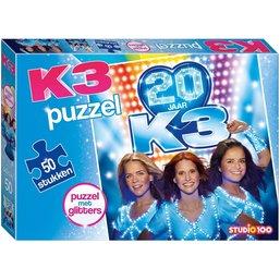 Puzzel K3 glitters: 50 stukjes
