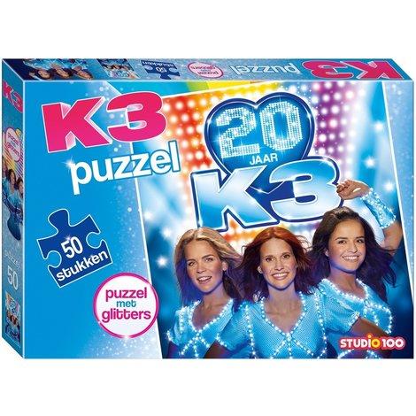 K3 : puzzle avec glitter