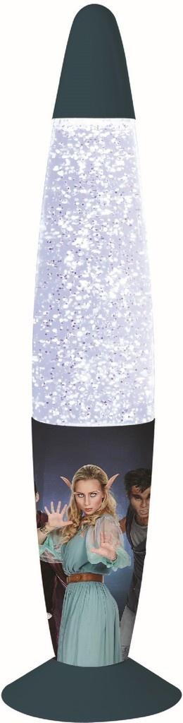 Glitter lamp LED Nachtwacht: 33x9 cm