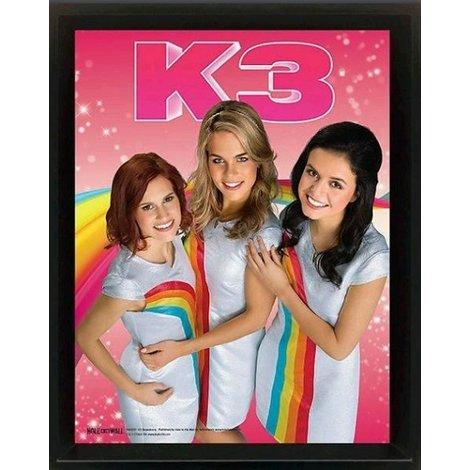 K3 Poster framed - Regenboog 23x28 cm