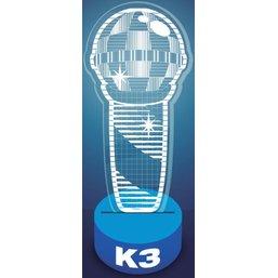 Acrylic lamp K3: 24x17x5 cm