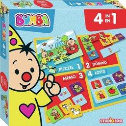 Spel 4 in 1 Bumba: o.a. memory/domino