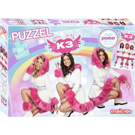 Puzzelen is altijd fijn! Deze dromerige K3 puzzel geeft het puzzelen een extra, magische dimensie. De bijgevoegde poster maakt het plaatje compleet!