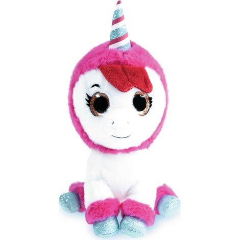 Deze roodharige unicorn is Hannes beste vriendje: superzacht en je neemt hem overal mee naartoe. Als je op het buikje van de knuffel drukt, kan je zelfs meezingen met 'Land van de Regenboog'!
