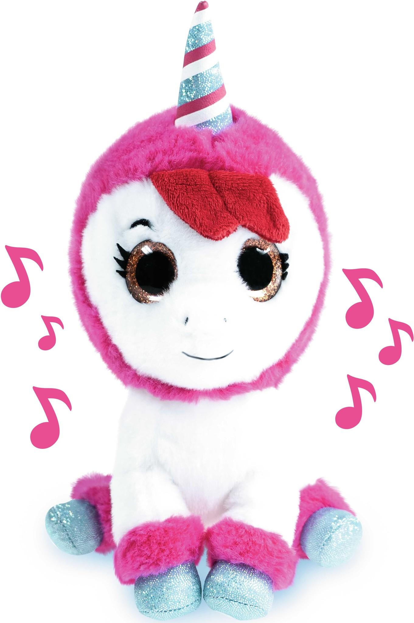 K3 : peluche Unicorn 20 cm avec K3 musique
