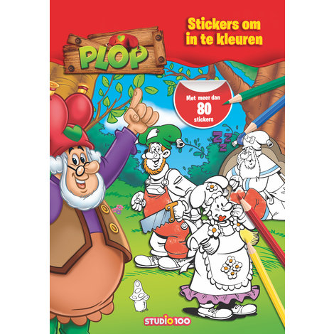 Stickerboek Plop: Stickers om in te kleuren