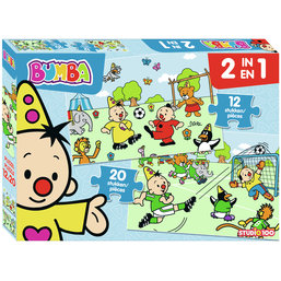 Puzzle Bumba soccer 2 in 1: 12/20 pieces