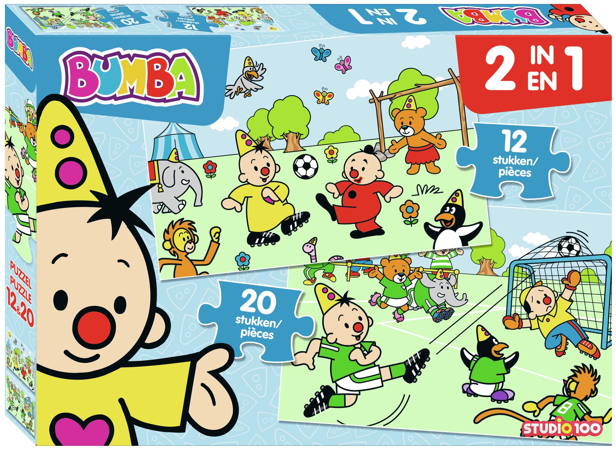 Puzzel Bumba voetbal 2 in 1: 12/20 stukjes
