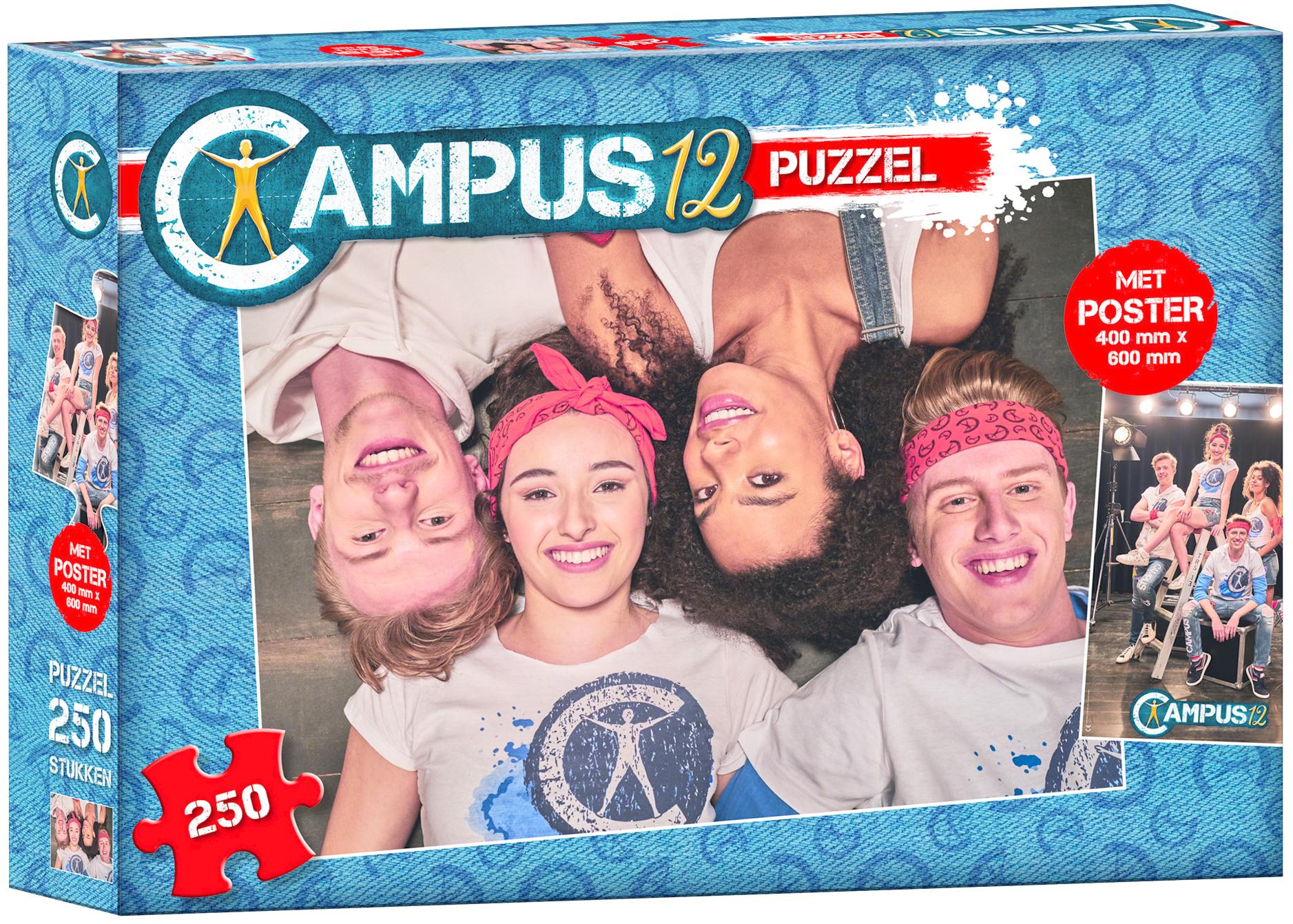 Puzzel Campus 12 met poster: 250 stukjes