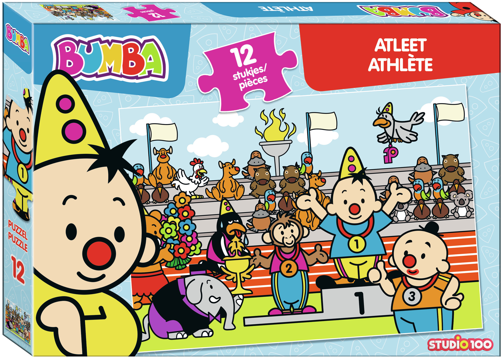 Puzzel Bumba atleet Bumba: 12 stukjes