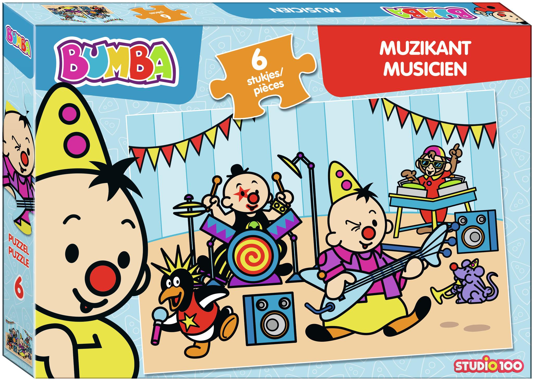 Puzzel Bumba muzikant Bumba: 6 stukjes