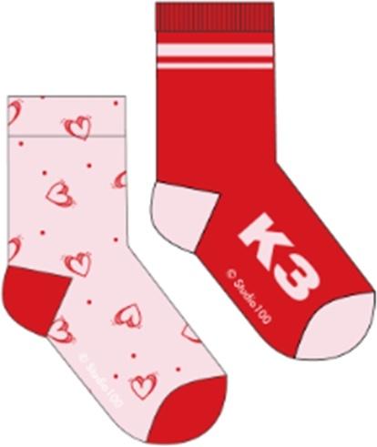 Socks K3:  2-pack Love - size 23/26