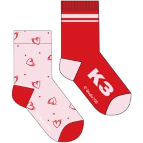 Socks K3:  2-pack Love - size 31/34