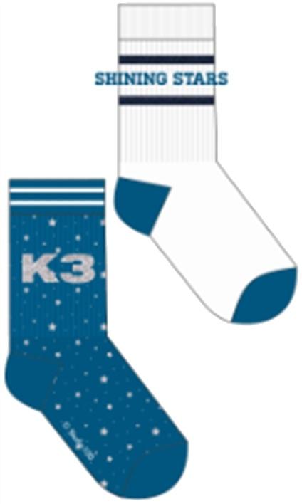 Socks K3:  2-pack Stars - size 23/26