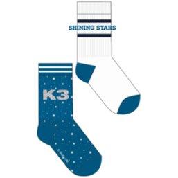 Sokken K3:  2-pack Sterren - maat 35/38