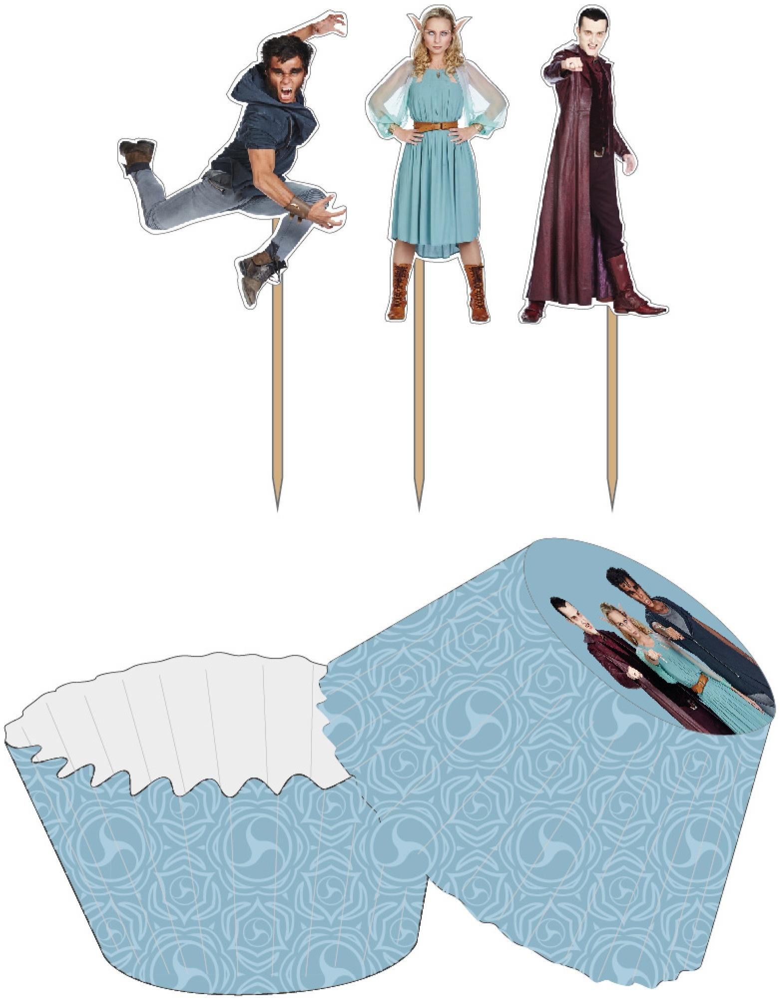 Cupcake vormpjes Nachtwacht: 24 stuks