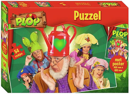 Puzzel Kabouter Plop met poster: 54 stukjes