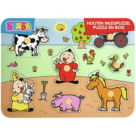 Puzzel Bumba hout boerderij: 7 stukjes